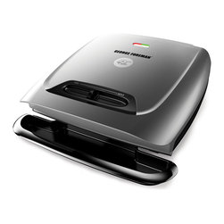Salton - George Foreman 121-square inch Classic Plate Grill - Enjoy healthier meals in minutes with this signature Foreman heating element. This press provide even heat from the center to the sides of the plate, with a handy on/off switch for added security and peace of mind during use.