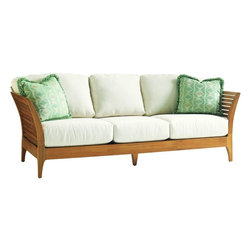Lexington - Tommy Bahama Tres Chic Sofa - Horizontal slats and graceful flared arms achieve an original, contemporary look.