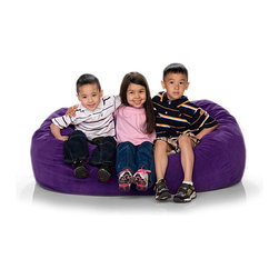 Jaxx - Jaxx Jr. Kid's Lounger Foam Filled Bean Bag Chair - This bright and colorful foam-filled bean bag chair will become the favorite seat in the house for adults and kids alike. The shredded upholstery foam contours to your body and makes a cozy place to read, watch movies or just cuddle.