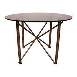 Mid-Century Faux Bamboo Dining Table - $850 Est. Retail - $320 on Chairish.com -