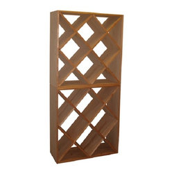 """Vinotemp Rack-N1PR Diamond Bin Premium Redwood 148 Bottle Wine Racks! - Our Diamond Bin Wine Racks are hand-made in our Southern California factory and can be made to order just for you. These Wine Racks are made from untreated premium Redwood and use only quality metal fasteners. We never use glue to hold our racks together as glue can weaken over time. Features: - Premium Redwood - Diamond shaped bins store all sizes of wine bottles - Bottle Capacity: approx. 148 bottles - Dimensions: 30""""W x 12""""D x 72""""H"""