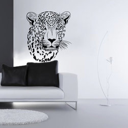 ColorfulHall Co., LTD - Vinyl Home Art Decor Jungle Animal Wall Decals Leopard Wall Decals - You will find hundreds of affordable peel - and - stick wall decal designs, suitable for all kinds of tastes and every room in your house, including a children's movie theme, characters, sports, romantic, and home decor designs from country to urban chic. Different from traditional decals, vinyl wall decals is with low adhesive that allows you to reposition as often as you like without damaging the paint. Application is easy: peel offer the pre-cut elements on the design with a transfer film, and then apply it to your wall. Brighten your walls and add flair to your room is just as easy.