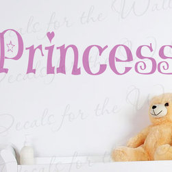 Decals for the Wall - Wall Quote Decal Sticker Vinyl Art Lettering Princess Girl's Room Nursery K41 - This decal says ''Princess''