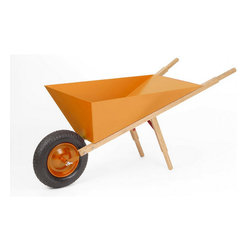 Inova Team -Modern Wheelbarrow , Orange - A return to the simple, functional things, the Carry On Wheelbarrow
