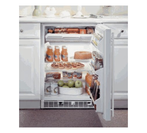 """Marvel - 61RF-WW-O-R 6.1 Cu. ft. 24"""" Built In Refrigerator/Freezer with Enhanced Micropro - The 14 cu ft top-freezer compartment features a self-closing door and a temperature range of 10 F to 29 F The 44 cu ft refrigeration section can store up to 175 12 oz cans and with two removable glass shelves and three door shelves it offers maximum ..."""