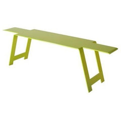 patio furniture and outdoor furniture Fermob Origami Steel Bench