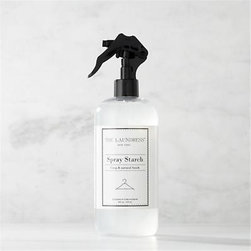 The Laundress® Spray Starch 16oz. - Make trips to the dry cleaner a thing of the past. Formulated exclusively for Clean Slate™, this ultra-gentle, eco-friendly spray starch by The Laundress® is subtly infused with the scent of lavender. Light-to-medium starch formula adds body and refreshes clothing and linens with a crisp finish without the weakening fabrics or leaving the buildup of most commercial starches. It also helps fabrics resist soil and promotes easy ironing. The plant-based formula is 100% biodegradable, non-toxic and allergen-free with no artificial colors or dyes, making it a kind choice for both the environment and sensitive skin.
