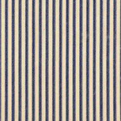 Bradford Valance Ticking & Gingham Indigo Blue
