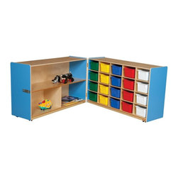 Wood Designs - Wood Designs Half and Half Storage with 20 Assorted Trays - WD14633B - Shop for Childrens Toy Boxes and Storage from Hayneedle.com! About WDM Inc.For 30 years Wood Designs has put passion for the enrichment and safety of children into quality wooden early learning furniture. Dennis and Debbie Gosney the couple behind this labor of love have taken their 50 years combined experience in child development furniture manufacturing and built a company at the forefront of innovation and safety. Intuitive design coupled with novel safety features like Pinch-me-not hinges and Tip resistant furniture set Wood Designs apart from the typical early learning furniture manufacturers.