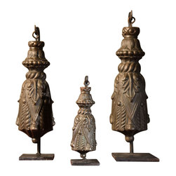 """BoBo's Intriguing Objects - Tassle On Stand, Iron, Small - Tassle on Stand. 8.5"""" L x 3"""" W x 2"""" H"""