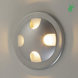 Bruck - Bruck | Ledra Quattro with J-Box and Driver - The Ledra Quattro with J-Box and Driver fixture emits four light rays. Suitable for indoor use. The small size, long life,  lack of UV, and cool beam makes them suitable for a variety of applications including use as step or marker lights.Available in choice of finishes and LED color temperatures. Includes driver and special junction box.Technical  Specifications: