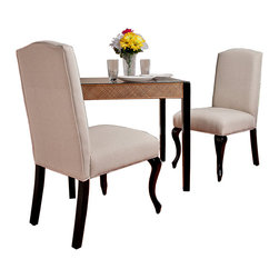 Great Deal Furniture - Kelsey Beige Dining Chair (set of 2) - Elegant carved design, sturdy hardwood construction, and fully cushioned seat and back make Kelsey Dining Chairs beautiful. Kelsey Dining Chairs are comfortable, easy to assemble and we have no doubt that they will look great in your dining room, or even as a side chairs in a living room. Kelsey are a great addition to any home.
