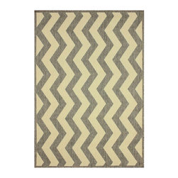 Nuloom - nuLOOM Modern Indoor/ Outdoor Vertical Chevron Grey Rug (5' 3 x 7' 9) - This modern chevron indoor outdoor area rug is made of polypropylene that is easy to clean and stain and mildew-resistant. This chevron outdoor and indoor rug promises durability and beautiful versatile colors that will certainly match your decor.