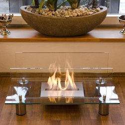 Buschbeck Crystal Bio Ethanol Indoor Fireplace - Buschbeck Crystal Bio Ethanol Indoor Fireplace is smoke free free standing indoor bio ethanol fireplace that will add instant ambiance and warmth to your home. This fireplace has a burning time of four hours and is perfect for any room in your home.