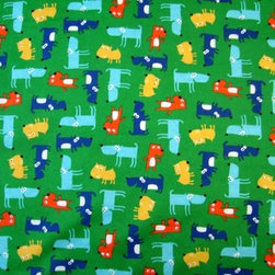 "SheetWorld - SheetWorld Fitted Crib / Toddler Sheet - Doggy Party Green - Made in USA - This 100% cotton dog crib / toddler sheet is made of the highest quality ""double napped"" fabric, which makes these sheets very soft and durable. Our dog sheets are made with deep pockets and elasticized around the entire edge which prevents them from slipping off the mattress, thereby keeping your baby safe. These dog sheets are incredibly durable and will last as your baby grows. We're called SheetWorld because we produce the most popular dog sheets on the market. Features the cutest doggies on a green background. Size: 28 x 52."