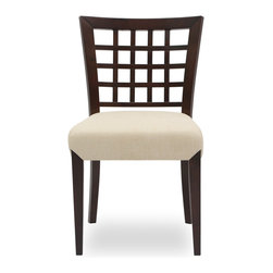 Bryght - 2 x Amanda Khaki Fabric Upholstered Light Cappuccino Dining Chair - Add a touch of class with the Amanda fabric upholstered Light Cappuccino dining chair. A lovely solid wood latticed back, strengthened by angled joinery and a generously scaled upholstered seat affords maximum comfort without compromising on style. The Amanda dining chair is ideal for everyday use or dinner parties.