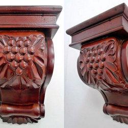 O'Neil Cabinets' Corbels - O'Neil Cherry corbel with grape leaf design.