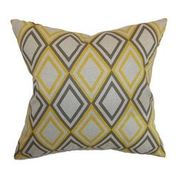 The Pillow Collection Eirunepe Geometric Pillow - Yellow and grey were made for each other. The Pillow Collection Eirunepe Geometric Pillow proves it. This decorative pillow is made with a natural cotton cover with yellow, grey, and white diamond design. Its luxurious feather and down blend fill hold the shape nicely. Dry clean only.About The Pillow CollectionIdentical twin brothers Adam and Kyle started The Pillow Collection with a simple objective. They wanted to create an extensive selection of beautiful and affordable throw pillows. Their father is a renowned interior designer and they developed a deep appreciation of style from him. They hand select all fabrics to find the perfect cottons, linens, damasks, and silks in a variety of colors, patterns, and designs. Standard features include hidden full-length zippers and luxurious high polyester fiber or down blended inserts. At The Pillow Collection, they know that a throw pillow makes a room.