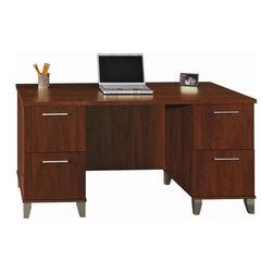 Bush Series C 3 Piece L Shape Computer Desk In Mocha