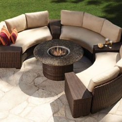 Wicker Conversation Sets - Lloyd Flanders Contempo 7 Piece Sectional Package