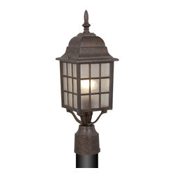 Vaxcel - Vista Outdoor Post Light - Vaxcel OP36765RBZ Vista Royal Bronze Outdoor Post Light