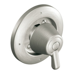 Moen - Moen T4171BN Brushed Nickel 3-function Transfer Valve Trim, Single Lever Handle - Moen T4171BN is part of the Moen bath collection. Moen T4171BN is a 3-Function Transfer valve trim kit. Moen T4171BN has a Brushed Nickel finish. Moen T4171BN Transfer Valve only trim fits the MPact common valve system and requires Moen's 3372 series valve to make this trim complete. Valve sold separately. From finishes that are guaranteed to last a lifetime, to faucets that perfectly balance your water pressure, Moen's ets the standard for exceptional beauty and reliable, innovative design. Moen T4171BN has rotational control with 180 ? of rotation with stops. Moen T4171BN is a single lever handle transfer valve trim only and the handle diverters the direction of water flow. Moen T4171BN Transfer valve only single handle trim provides for ease of operation. Moen T4171BN is approved by ADA. Brushed Nickel has a Lifeshine finish guarantee from Moen and provides style and durability. Moen T4171BN metal lever handle meets all requirements of ADA ASME A112.18.1/CSA B125.1. Lifetime Limited Warranty.