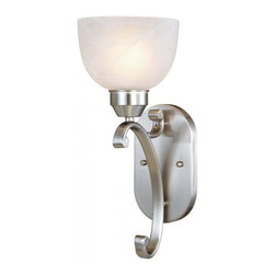 Minka-Lavery - Minka-Lavery Paradox 1-Light Wall Sconce - 5420-84 - This 1-Light Bathroom Sconce has a Nickel finish and is part of the Paradox Collection.