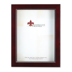 "Lawrence Frames - Espresso Wood Treasure Box Shadow Box 8x10 Picture Frame - This high quality wood treasure shadow box frame is the perfect memory box.  With 3 4"" of space inside , you can add treasured items, photos, and clippings.  Can be used as a deep picture frame as well.  Inside is a moveable spacer and glass which offers a variety of display options.  This beautiful narrow depth shadow box frame is constructed with quality in mind and is joined in the corners with a ""spline"" joint for years of enjoyment.  The molding is approximately 7 8"" wide, and 1.75"" deep.  This shadow box frame comes individually boxed, and includes high quality black wood backing.  These display boxes can stand on their own for tabletop display, or can be displayed on the wall with included hangers for vertical or horizontal wall mounting."