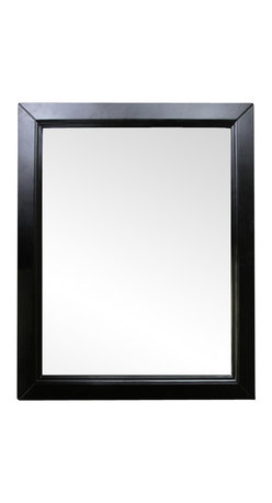 """Bellaterra Home - 30 Inch Mirror-Espresso - A rectangular wood frame mirror, made with solid birch wood in espresso finish. It is warm and sophisticated to add to any bathroom. The mirror is a high quality 0.6"""" thick mirror prevent rusting against bathroom humidity. All mounting hardware are included."""