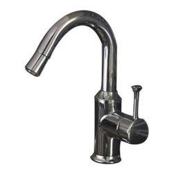 American Standard - American Standard Pekoe Hi-Flow Pull-Down Bar Faucet (4332.410.002) - American Standard 4332.410.002 Pekoe Hi-Flow Pull-Down Bar Faucet, Polished Chrome