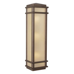 Murray Feiss - Murray Feiss Mission Lodge Transitional Outdoor Wall Sconce X-BC4043LO - Clean lines give a modern, updated look to this Murray Feiss outdoor wall sconce. From the Mission Lodge Collection, it features warm finishes for a casual but elegant appeal. The rich tones of the Corinthian Bronze finish accentuate the warm look of the amber ribbed glass panels that complete the fixture.