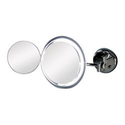Zadro Surround Light 7X/5X Satin Nickel Wall Mirror
