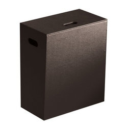 Gedy - Floor Standing Wenge Laundry Basket of Faux Leather - Made in faux leather and mdf and coated with wenge.