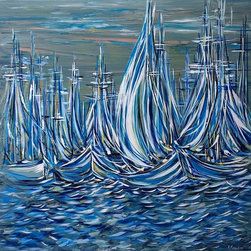 Kozyuk Gallery - Ready to Sail, Painting - Dimensions: 48X48 inches