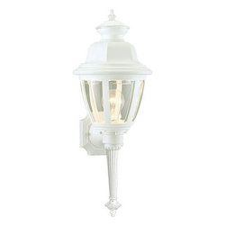Progress Lighting - Progress Lighting P5738-30 Incandescent 1-Lt. Wall Light - Wall torch with clear beveled acrylic panels.