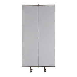 Best Rite - Best Rite Mobile Room Divider Add-On - 5.3W x 8H ft. - 74771 - Shop for Room Dividers from Hayneedle.com! The Best Rite Great Divide 8 ft. High Mobile Room Divider Add-On makes setting up partitions and temporary enclosures is no longer a time consuming affair. This set is designed to join starter sets. When joined with starter sets this add-on set attempts to create maximum wall length. Its a great support to the modular wall system that allows you to customize wall length. While starter sets include three wall panels and two end panels these add-on panel set includes two wall panels.