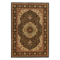 """Orian - Orian American Heirloom Osteen (Black) 7'10"""" x 10'10"""" Rug - American Heirloom Collection, Orian Rugs' flagship collection is inspired by classic, hand-woven oriental rugs that combine understated elegance with classic style. The 1.5 million point design construction is densely woven with Orian's finest-denier yarns creating unparalleled visual dimension and pin point design clarity."""