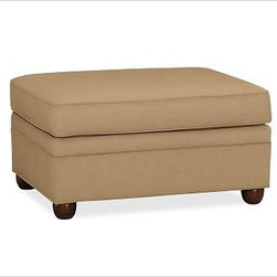 """Chesterfield Upholstered Ottoman, Washed/Linen Cotton Caramel - Comfort and style define our Chesterfield Collection. Crafted in the America using eco-friendly components, our ottoman works equally well as additional seating or as a footrest companion to the Chesterfield Sofa or Armchair. 38"""" w x 27"""" d x 21"""" h {{link path='pages/popups/PB-FG-Chesterfield-3.html' class='popup' width='720' height='800'}}View the dimension diagram for more information{{/link}}. {{link path='pages/popups/PB-FG-Chesterfield-4.html' class='popup' width='720' height='800'}}The fit & measuring guide should be read prior to placing your order{{/link}}. Ottoman has a polyester wrapped cushion. Proudly made in America, {{link path='/stylehouse/videos/videos/pbq_v36_rel.html?cm_sp=Video_PIP-_-PBQUALITY-_-SUTTER_STREET' class='popup' width='950' height='300'}}view video{{/link}}. For shipping and return information, click on the shipping info tab. When making your selection, see the Special Order fabrics below. {{link path='pages/popups/PB-FG-Chesterfield-5.html' class='popup' width='720' height='800'}} Additional fabrics not shown below can be seen here{{/link}}. Please call 1.888.779.5176 to place your order for these additional fabrics."""