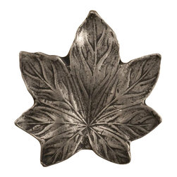 Anne At Home - Maple Leaf - Small Knob (Set of 10) (Bronze Black) - Finish: Bronze Black. Hand cast and finished. Made in the USA. Pewter with brass insert. 0.75 in. L x 1 in. W x 0.75 in. H