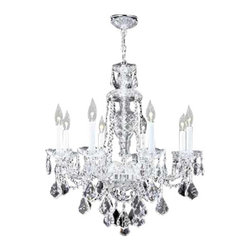 James R Moder - 95898S44 James R Moder Budget Chandelier - In most designs, the major cost of a Crystal Chandelier is the price of the Crystal components. The quantity and shapes of the Crystal utilized to trim the Chandelier and most importantly, as in grades of diamonds, the crystal quality determines the price. James R Moder  Crystal offers our exclusive REGAL HAND-CUT AND POLISHED CRYSTAL (-44). These Chandeliers are trimmed with hand-cut and other Crystal produced by artisans in EUROPE and worldwide. This quality is popular for those who appreciate fine handcraftsmanship at a moderate price.