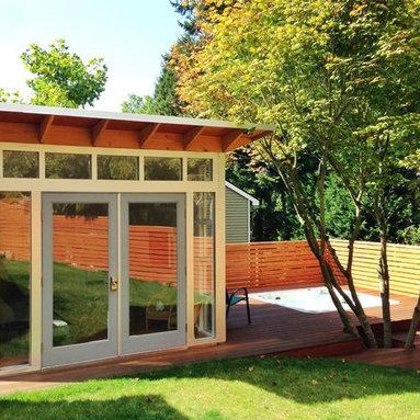 10x12 Studio Shed backyard studio (DIY Interior) - 10x12 Studio Shed