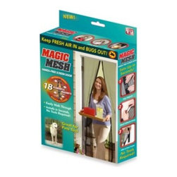 Allstar Mktg Group Llc Dba Allstar - Magic Mesh Instant Screen Door - Magic Mesh Instant Screen Door creates a hands-free screen door that allows fresh air in and annoying bugs out. Instantly opens and magically snaps closed behind you using 18 strategically placed magnets.