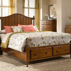 Broyhill Furniture - Hayden Place Queen Storage Panel Bed in Light Cherry - 4648 - Hayden Place Collection Queen Bed