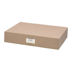 """Resource International Inc. - Margo Storage Collection Small Art File Storage Box - Overview Our exclusive Margo small art file storage organizes and protects your valuable photo memories beautifully. Exposures has been designing museum-quality photo storage for 20 years. Perfect for safekeeping important documents, photos, magazines and other precious items.  Features Bookcloth covering Standard nickel label holder Art file storage is available in additional sizes   Fabric dye lots vary between shipments from our supplier, which may result in slightly varying colors when pieces are ordered separately.  When filling a piece of our storage furniture with boxes of the same color, we recommend you order all the pieces at one time to ensure color consistency. Specifications  Small Art File measures 3""""H x 15""""W x 12""""D."""