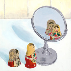 "Matryoshka Mirror Image Canvas, 12"" x 12"""