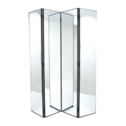 Four Panel Mirrored Screen This Mirrored Folding Screen