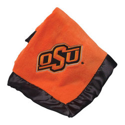 Collegiate Delight - Oklahoma State University Blanket - Let your school spirit show with these officially licensed collegiate baby blankets. These embroidered coral fleece blankets with matching satin trim are super soft to the touch and perfect for your future graduates and athletes.