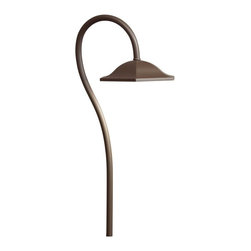 Kichler Lighting - Kichler Lighting LED Shepherd's Crook Path Light X-TZA70851 - A curvy shade paired with a shepherd's crook style arm creates a whimsical look to this Kichler Lighting path light. From the Shepherd's Crook Collection, this traditional outdoor lighting fixture features an LED light source and comes finished in a beautiful Textured Architectural Bronze hue.