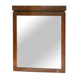 Pegasus - Pegasus 30 in. Wall Mirror, Medium Brown (PEFIMR017) - Pegasus PEFIMR017 Pegasus 30 in. Wall Mirror, Medium Brown