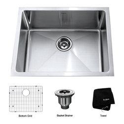 Kraus - Kraus 23 inch Undermount Single Bowl 16 gauge Stainless Steel Kitchen Sink - *Add an elegant touch to your kitchen with a unique and versatile undermount sink from Kraus